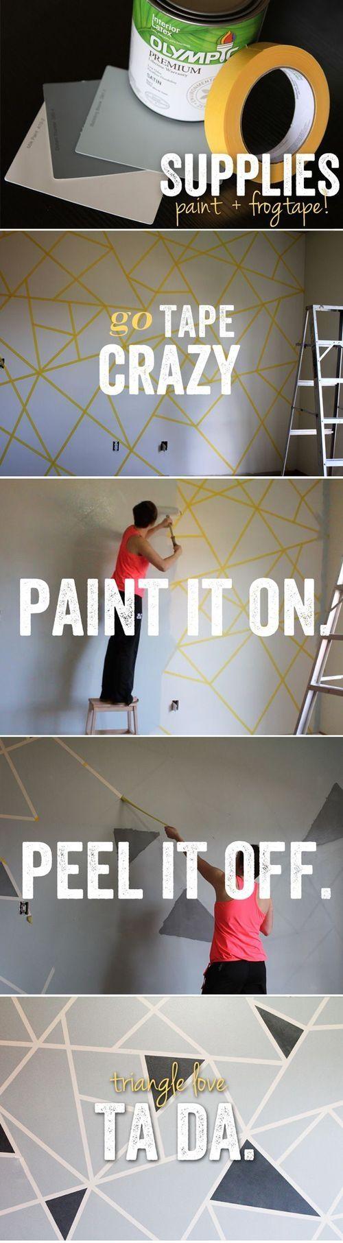 Tips & DIY en décoration intérieure pour peindre un mur avec des triangles