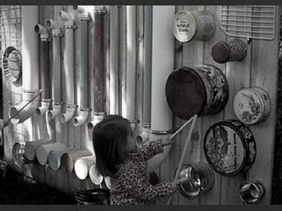 les enfants, le jardin et la musique