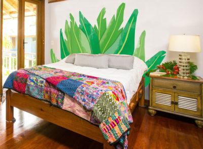 Tête de lit auto-adhésive feuille de bananier